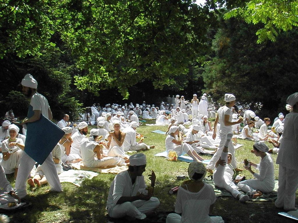Tantra Blanc à Fondjouan - Pause entre deux kriya...