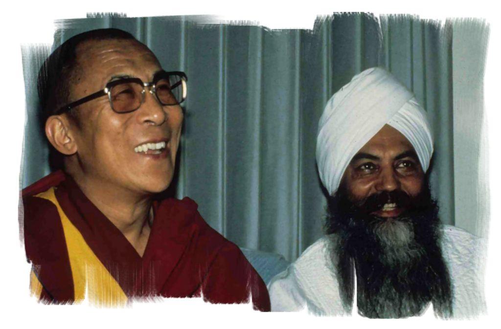 Dalaï Lama et Yogi Bhajan